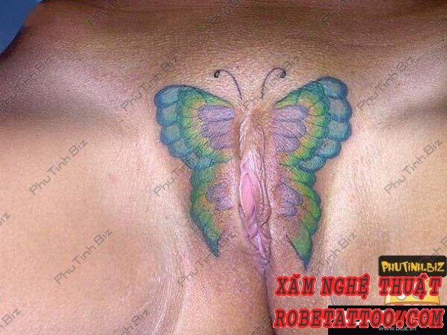 Hình sex xăm lồn nghệ thuật đẹp ,bướm bị săm